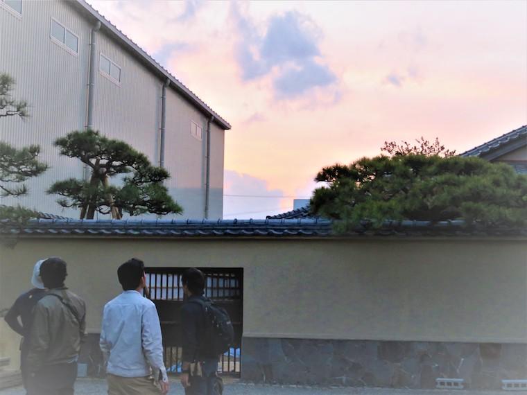大仕事の後はきれいな夕焼けが広がっていました。