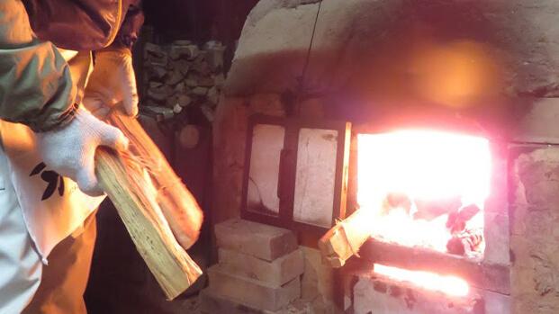 醉月陶苑の登り窯の薪