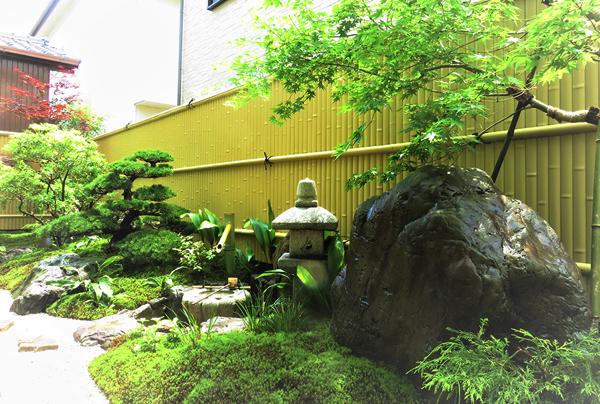 五葉松を植えた日本庭園